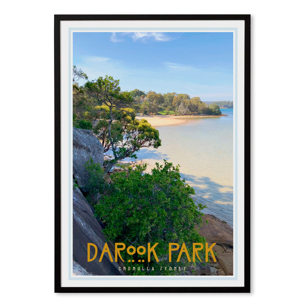 Darook Park Cronulla, vintage style travel print places we luv