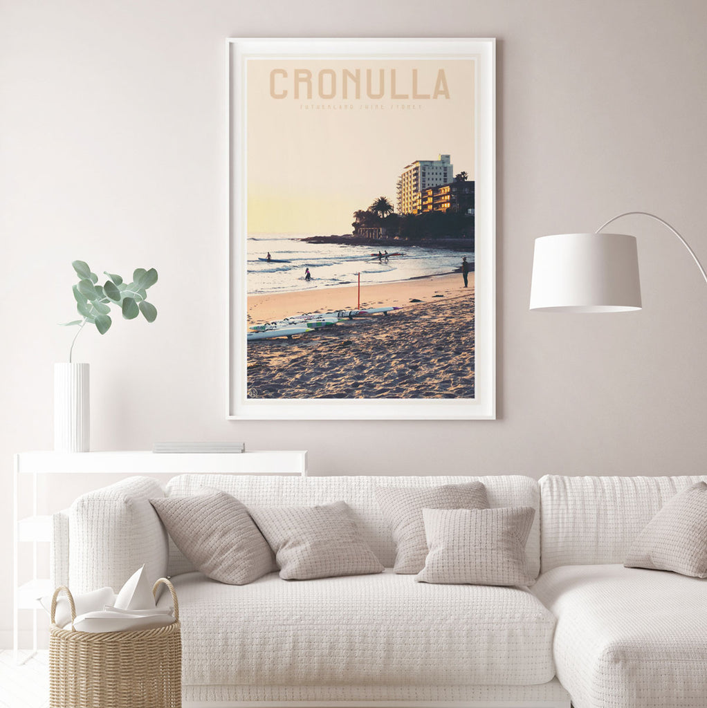 Cronulla Beach vintage style travel print, stylists favourite, designed by places we luv