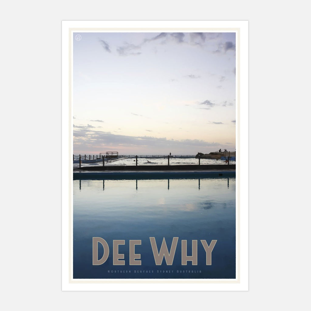 Dee Why Print vintage travel style by places we luv