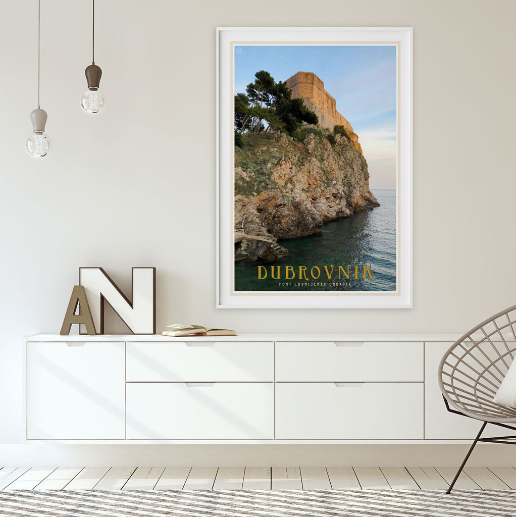 Dubrovnik vintage travel style print by places we luv