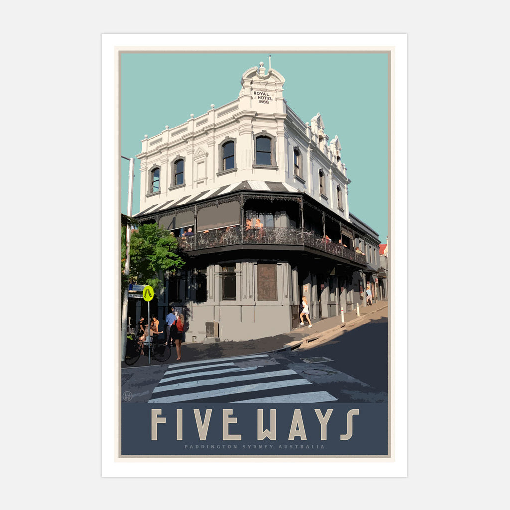 Paddington Five Ways Print