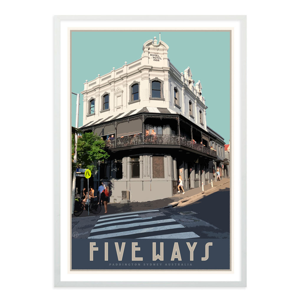 Paddington Five Ways vintage travel style print, vintage posters, Places We Luv