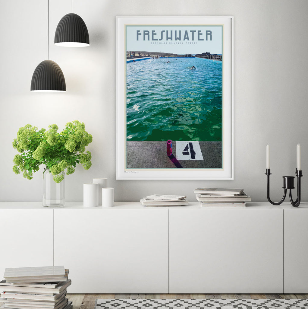 Freshwater beach print by places we luv