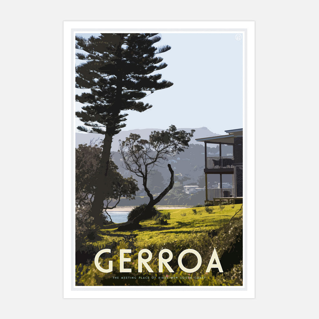 Gerroa print - vintage travel style  by Places We Luv