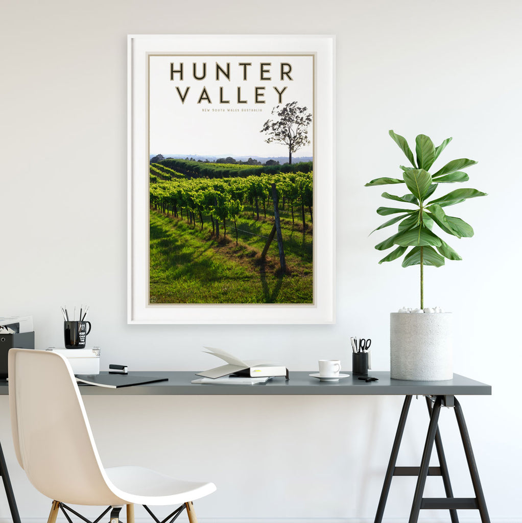 Hunter Valley travel poster - by places we luv