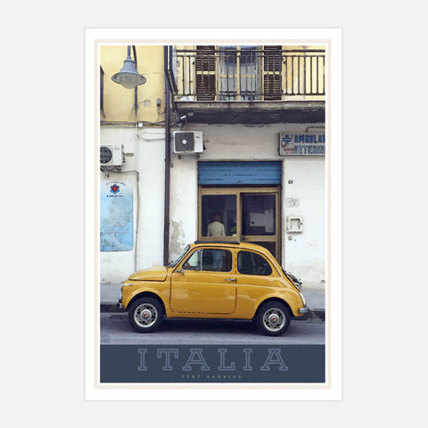 Italy travel style poster - places we luv