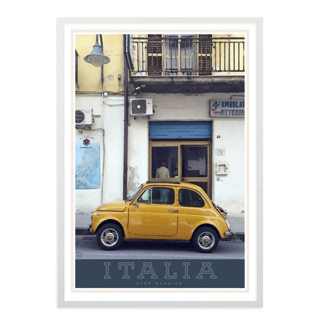 Italian bambino travel style framed poster - places we luv