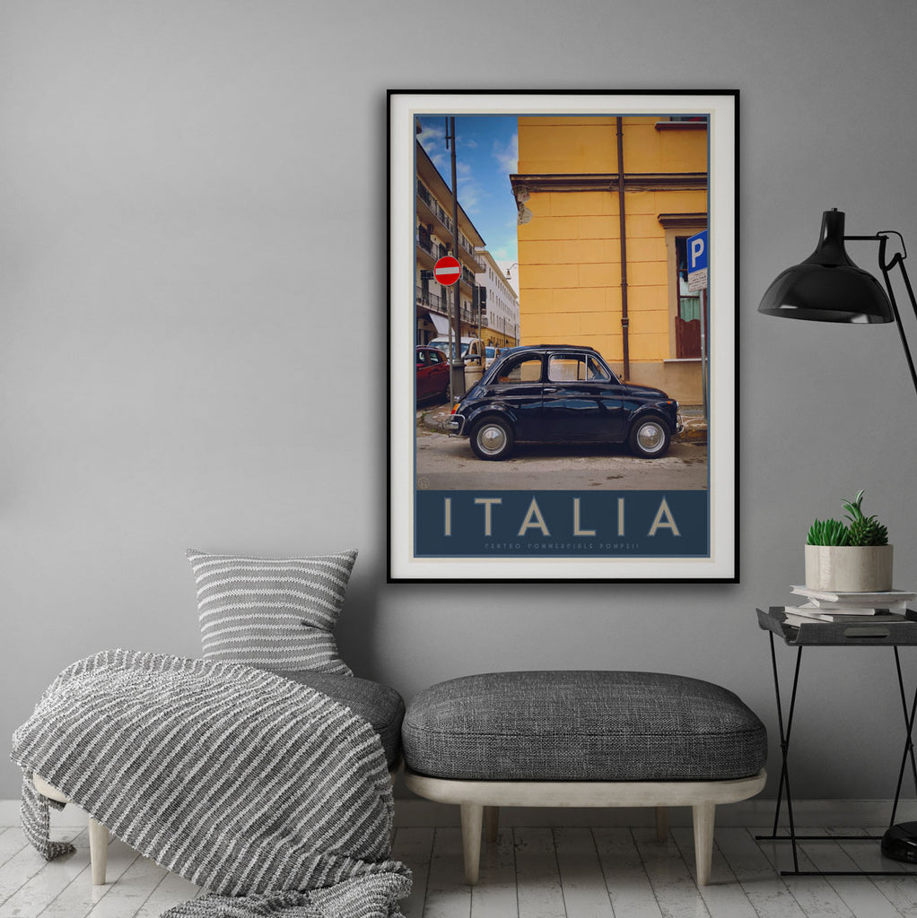 Italia bambino travel style framed poster - places we luv