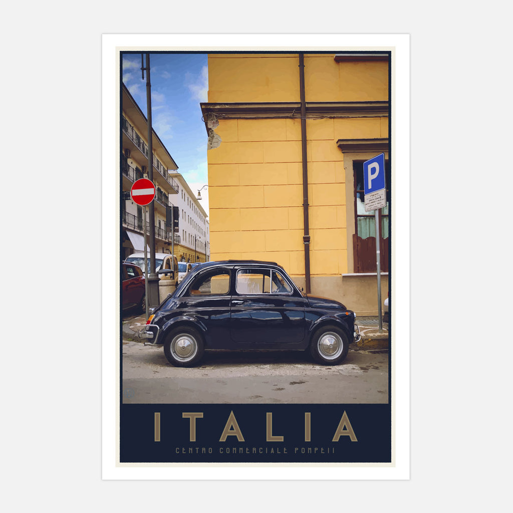 Italia bambino travel style poster - places we luv
