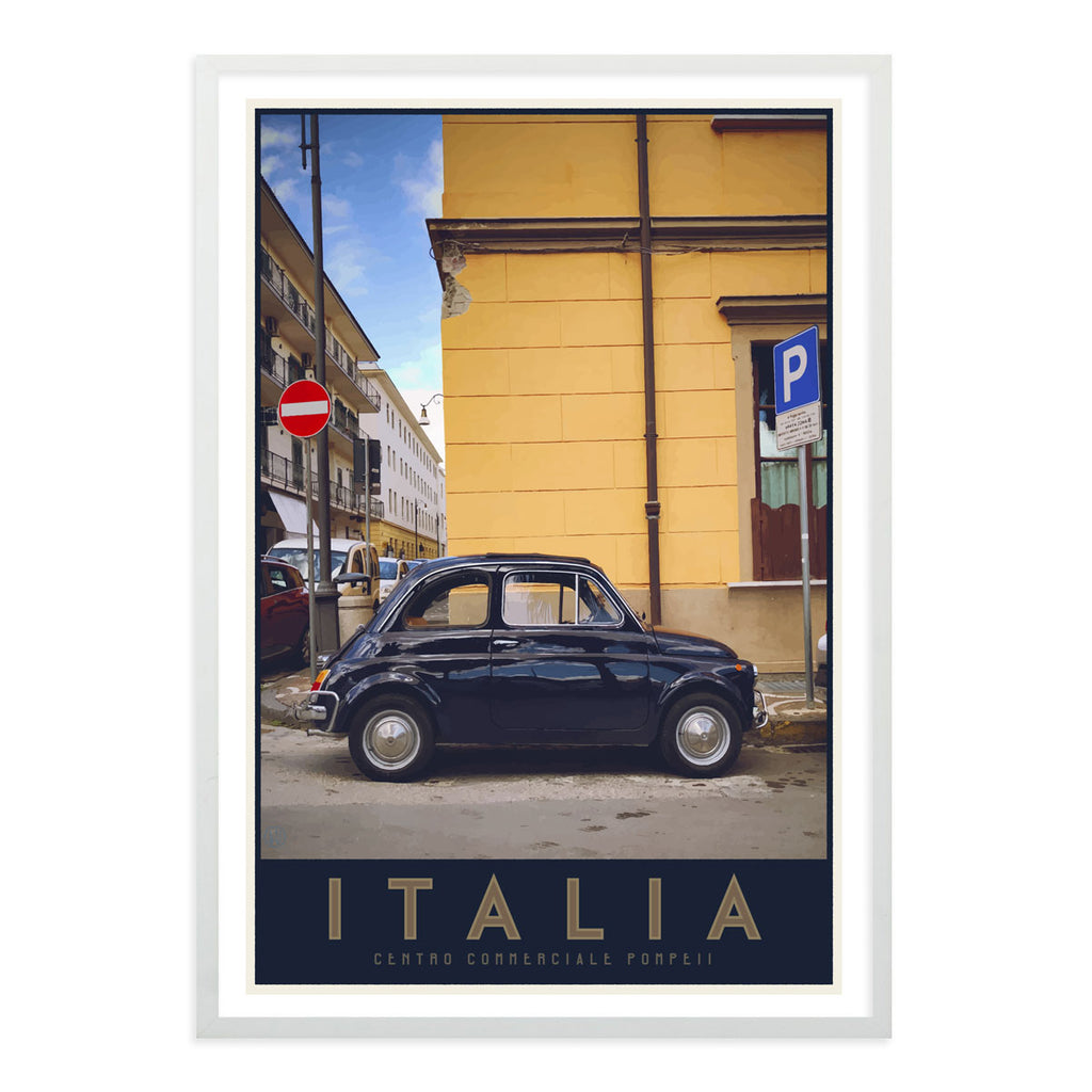 Italia bambino travel style white framed poster - places we luv