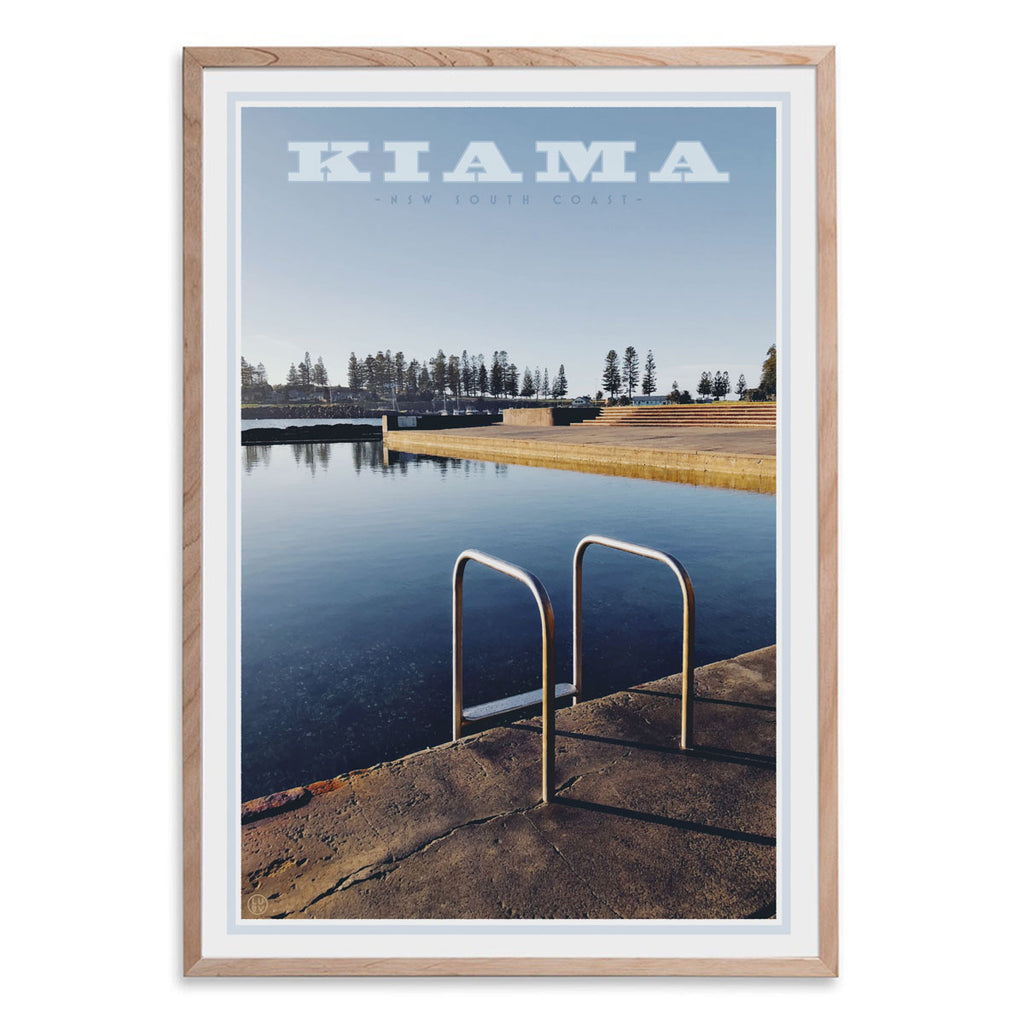 Kiama Pool Print. Vintage travel style framed poster by places we love