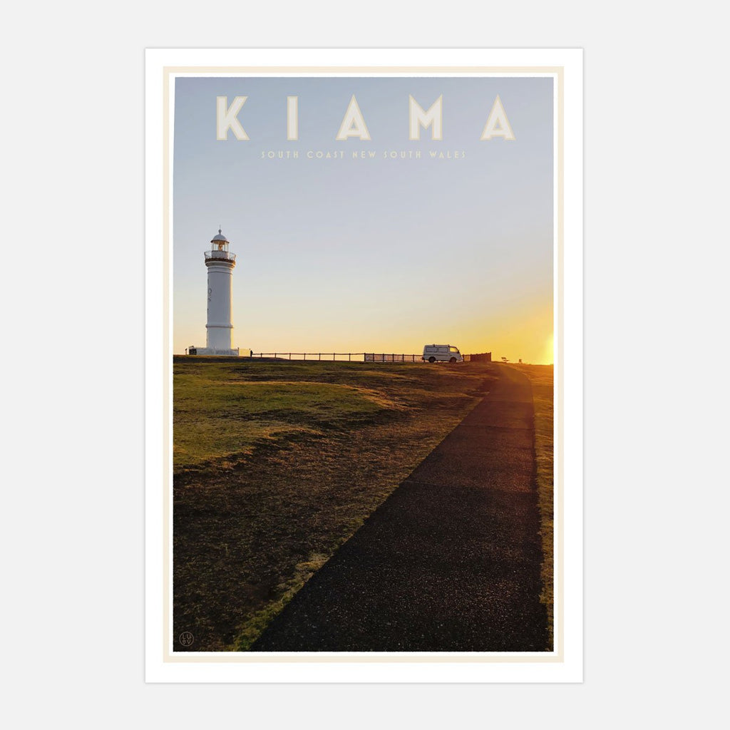 Kiama vintage travel style print design by Places We Luv