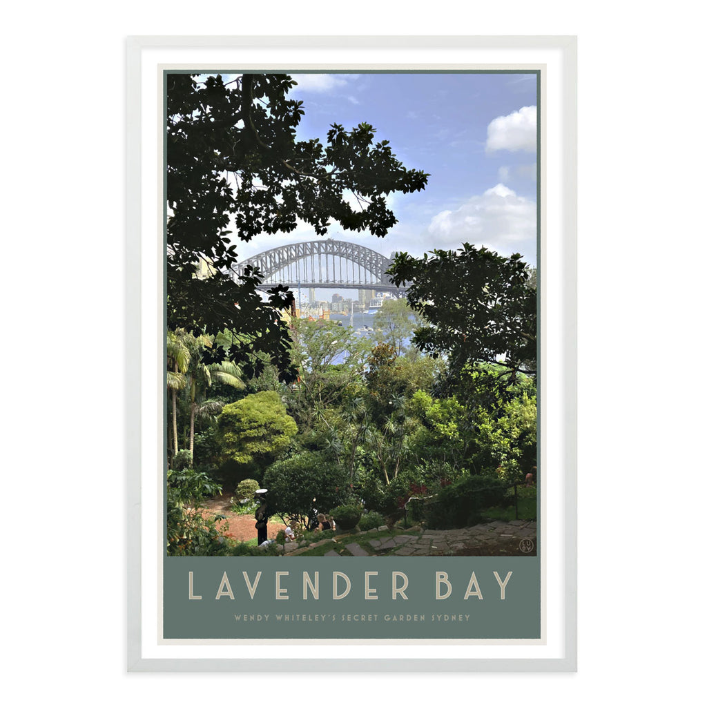 Lavender Bay vintage style travel print by places we luv