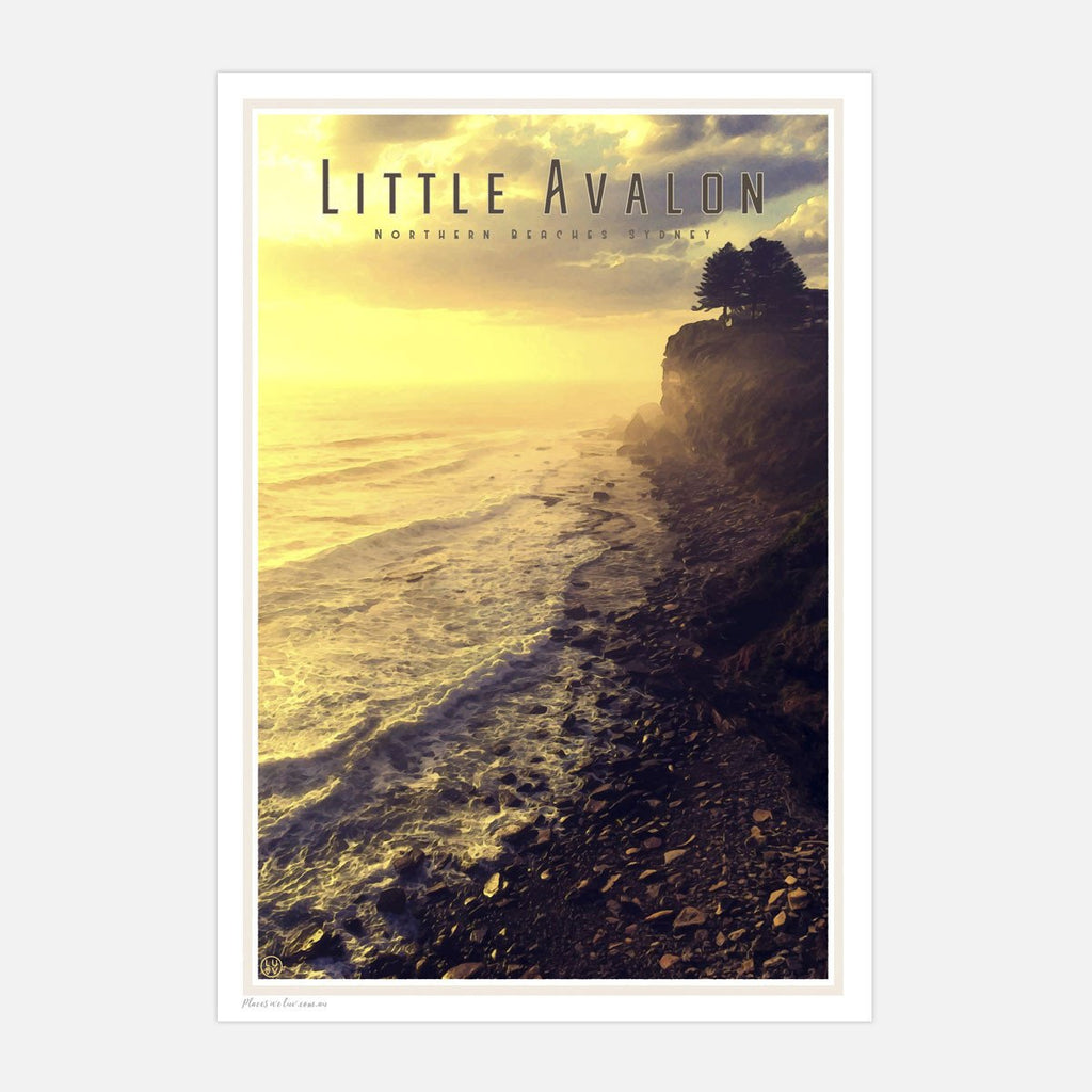 Little Avalon vintage travel style poster by Places we Luv
