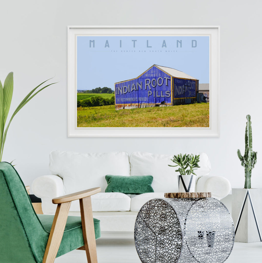 Maitland vintage travel style print and poster by places we luv
