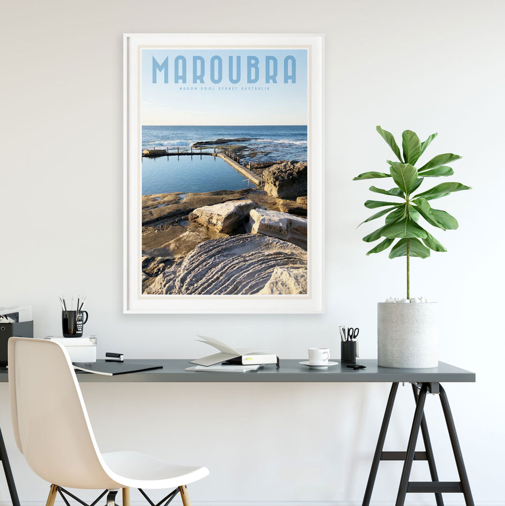 Maroubra vintage style travel print by places we luv