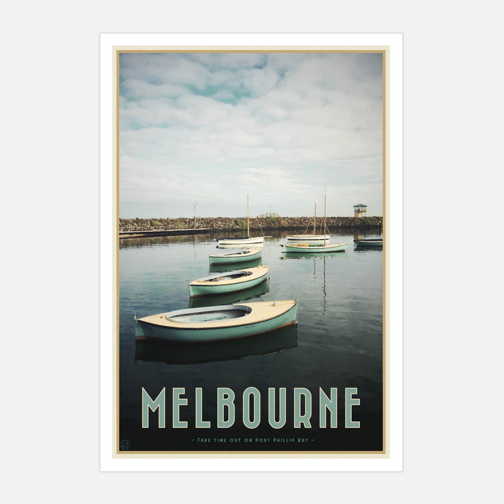 Melbourne Boats Print