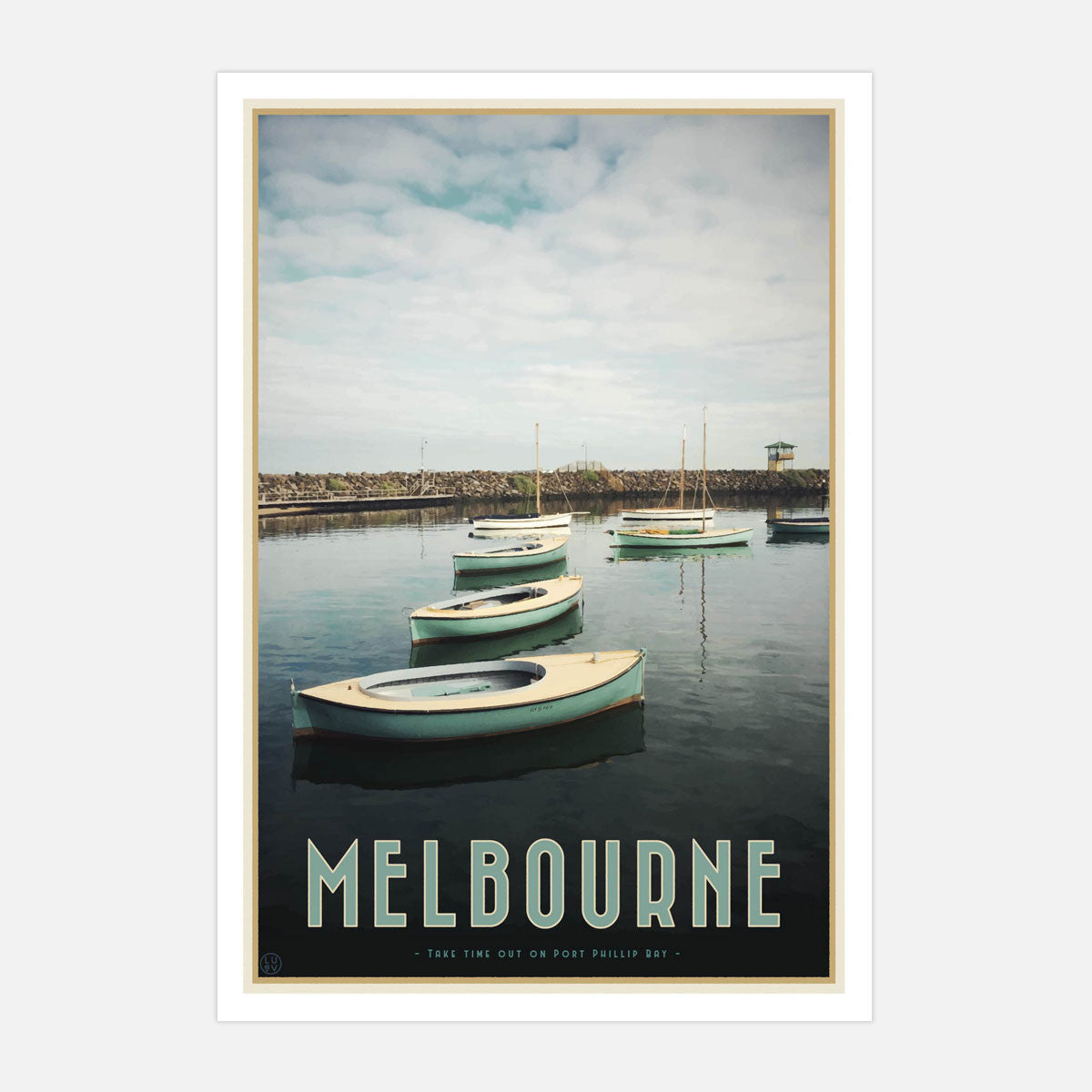 Melbourne art print | Port Phillip Bay | Places We Luv | Places We Luv