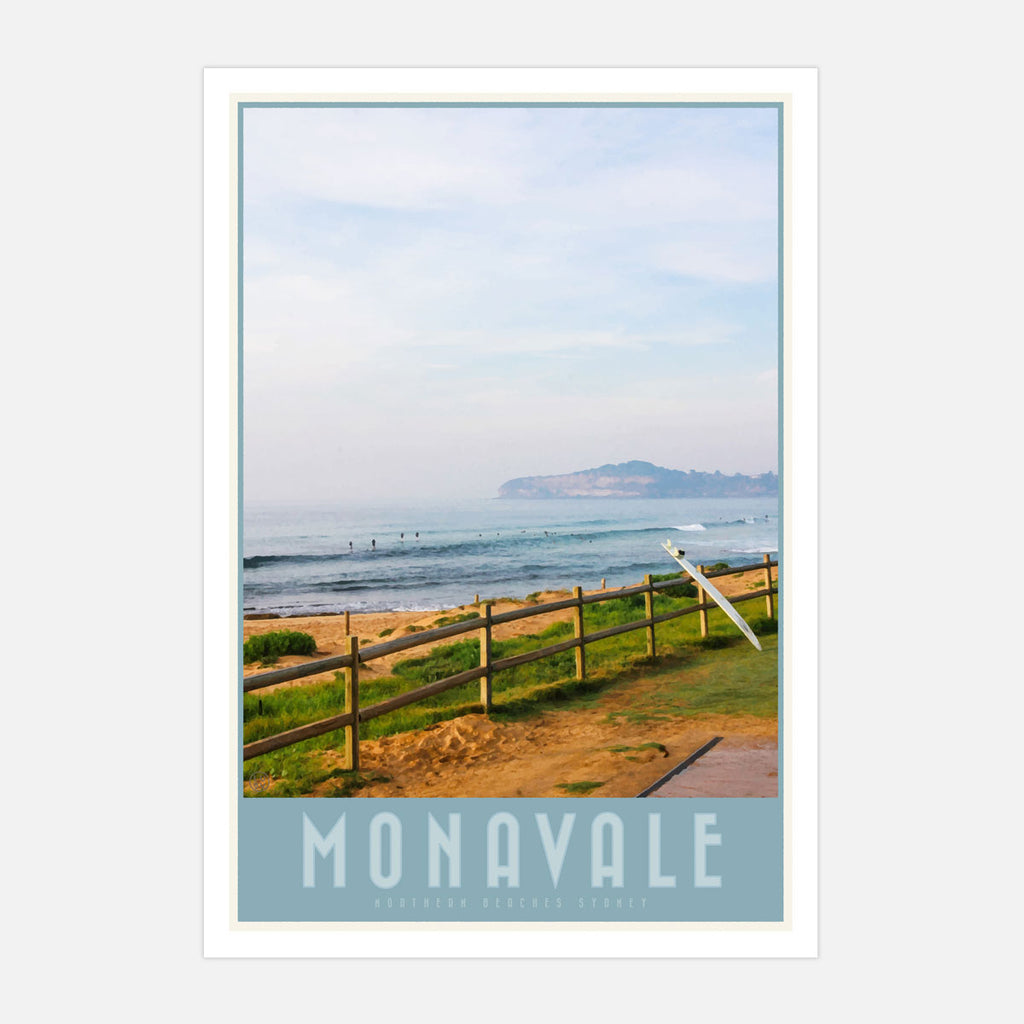 Mona Vale vintage travel style print by places we luv