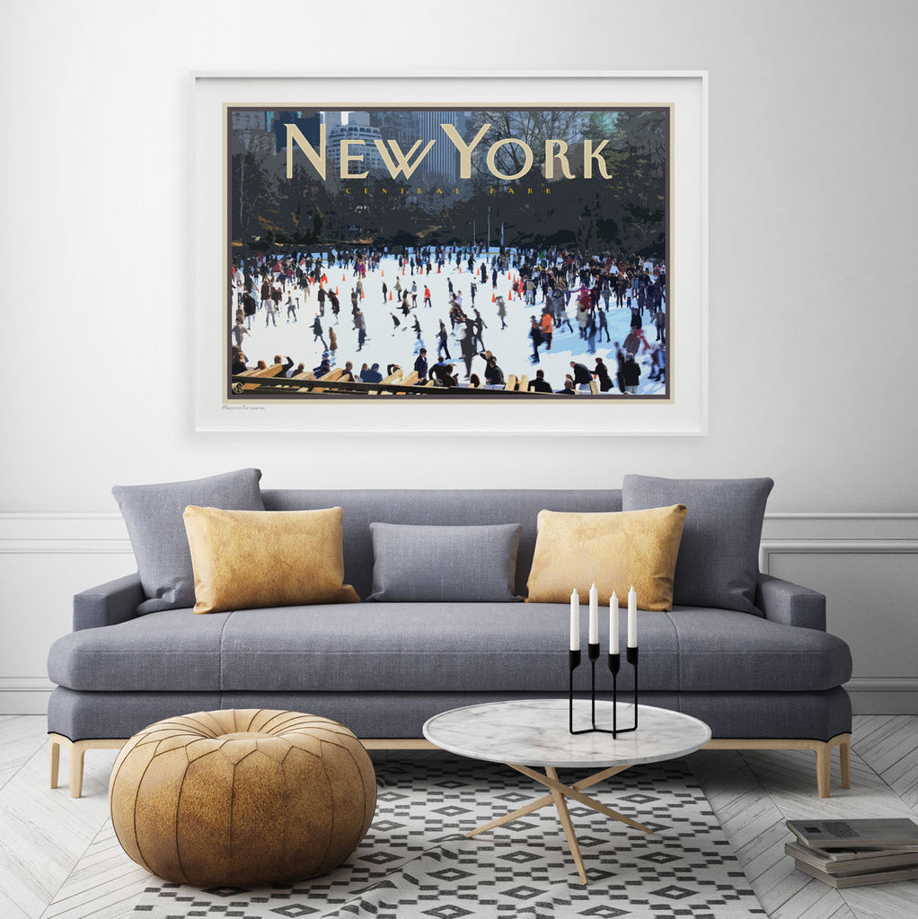 New York vintage travel style print by places we luv