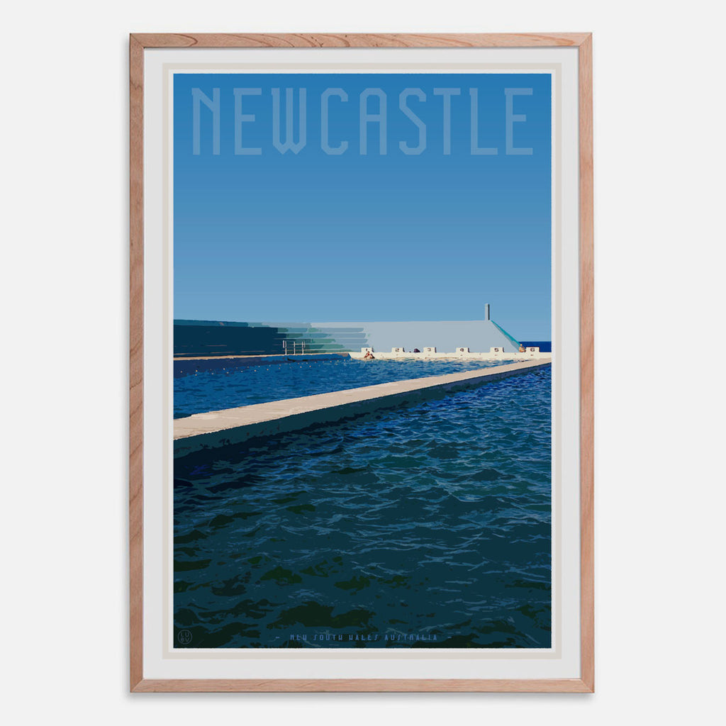 Framed print Newcastle ocean baths by places we luv