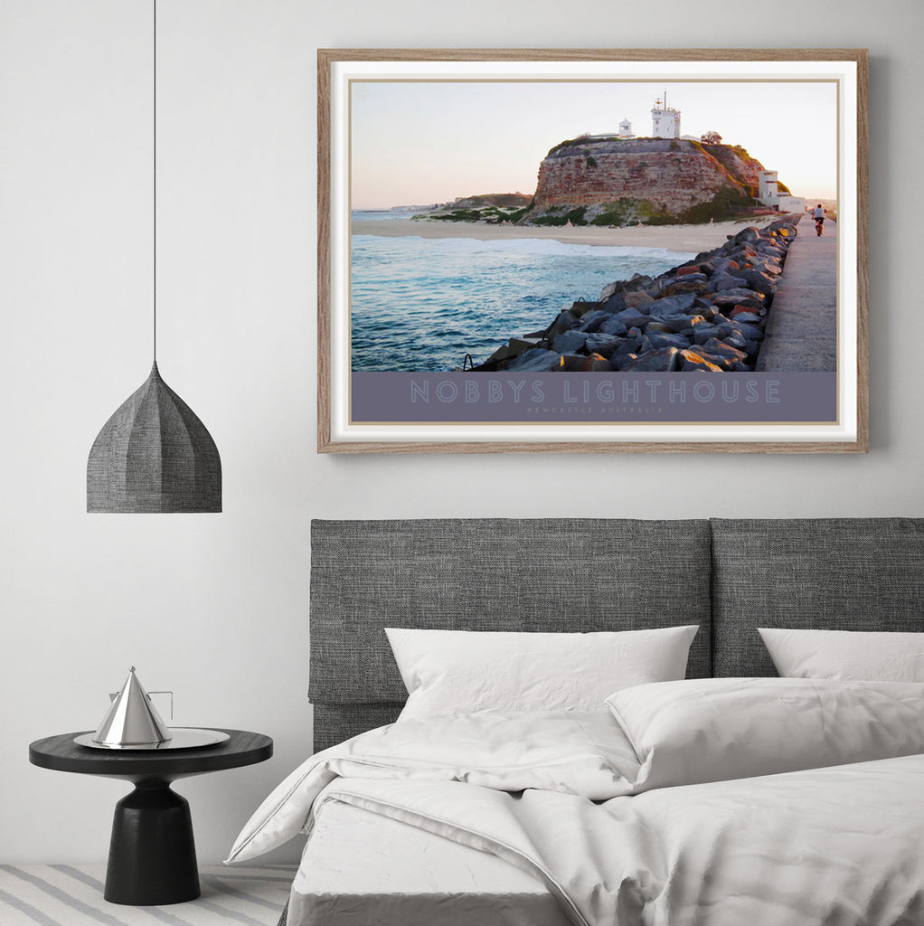 Nobbys Lighthouse Travel Print