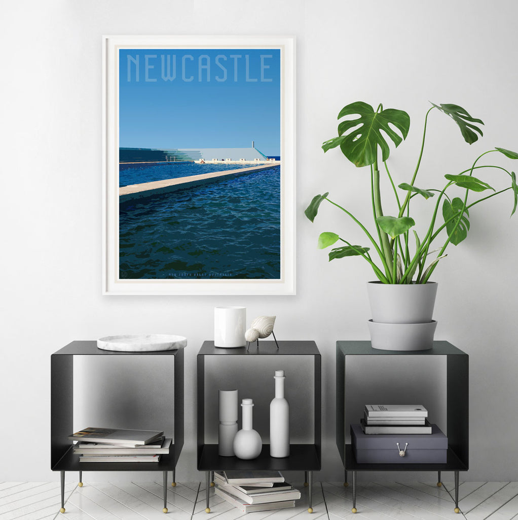 Print Newcastle ocean baths by places we luv