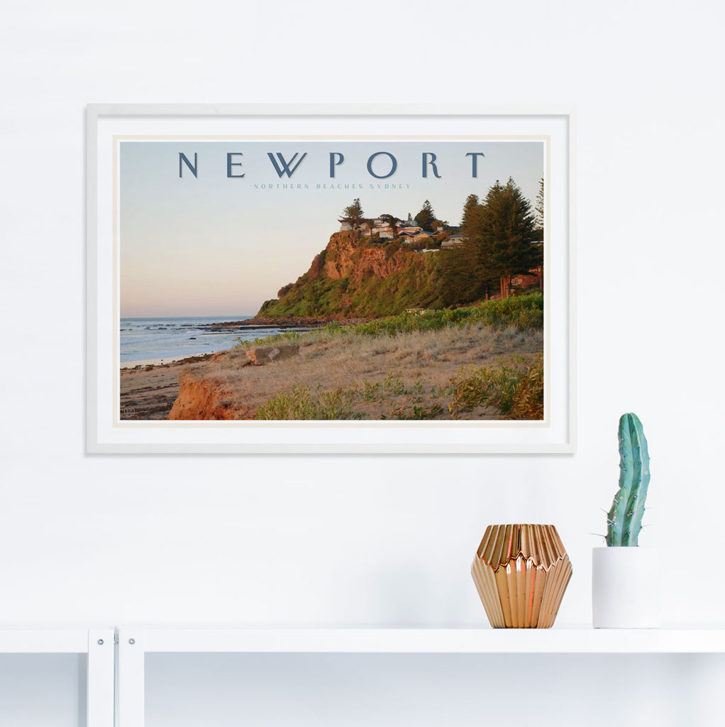 Newport headland print by places we luv