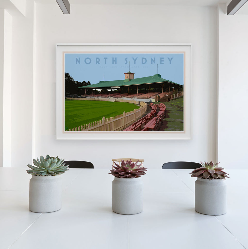 North Sydney vintage travel style poster by places we luv