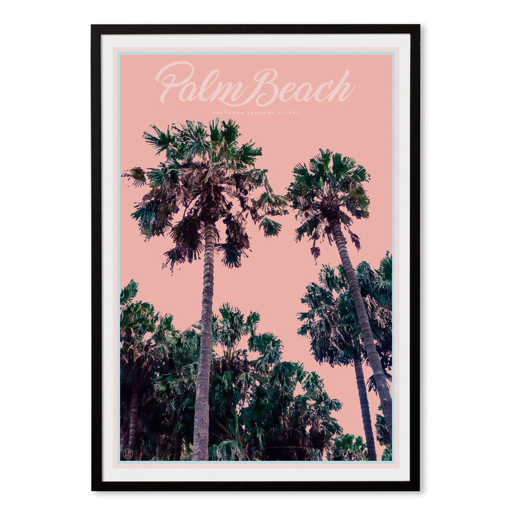 Palm Beach Palms - Sydney - original design print by Placesweluv