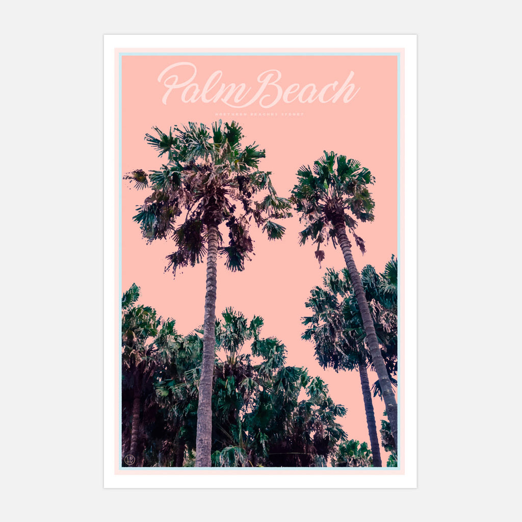 Palm Beach Palms - Sydney print by Places we luv
