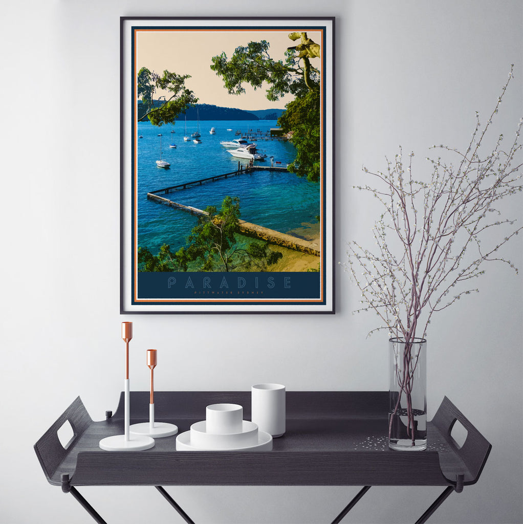 Paradise Beach framed print by places we luv
