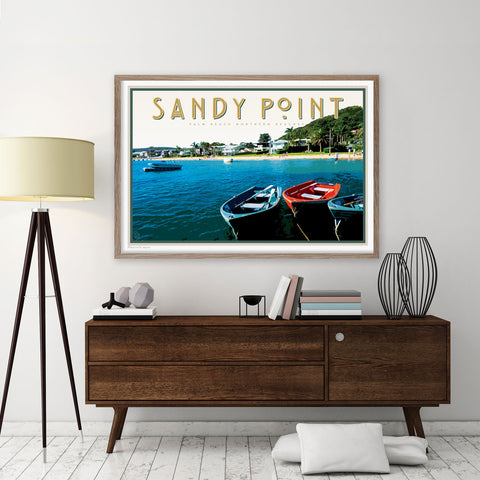 Sandy Point poster original design by placesweluv