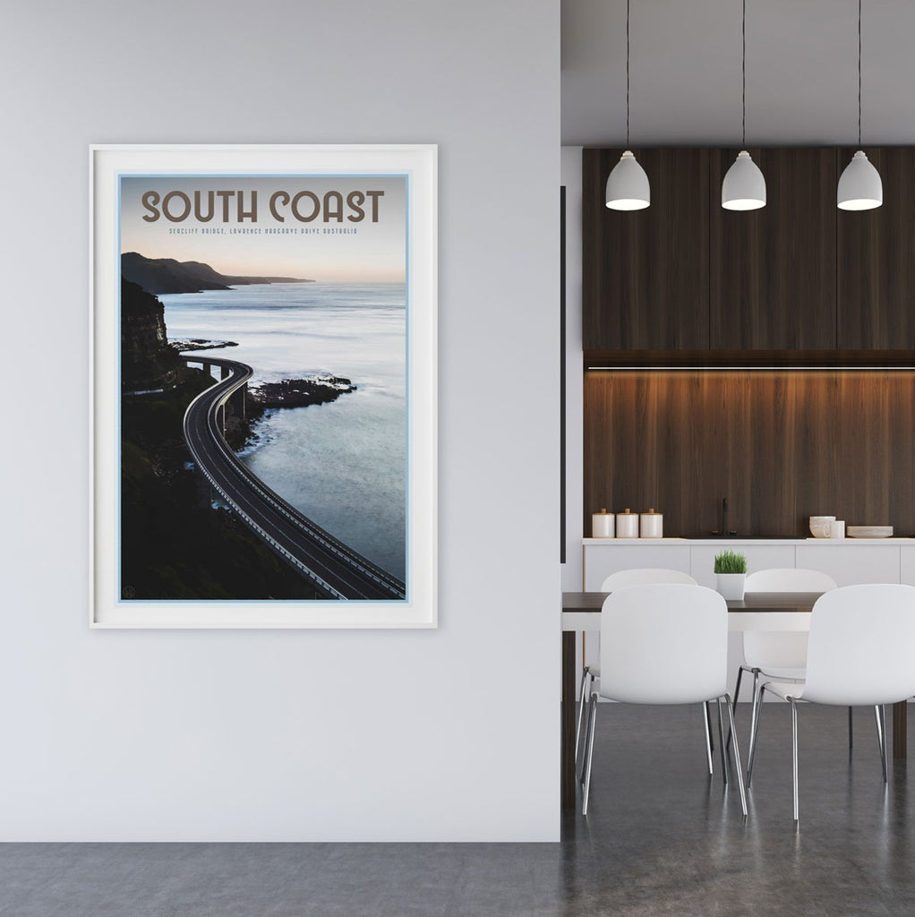 South coast seacliff bridge print by places we luv