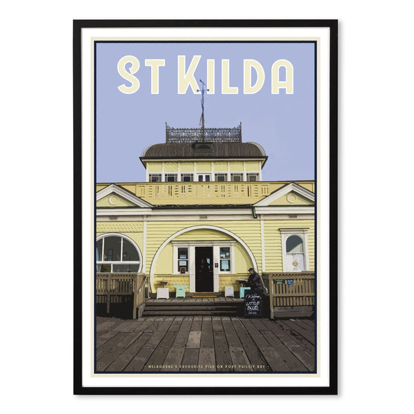 Black framed St Kilda Pier Print - Places We Luv