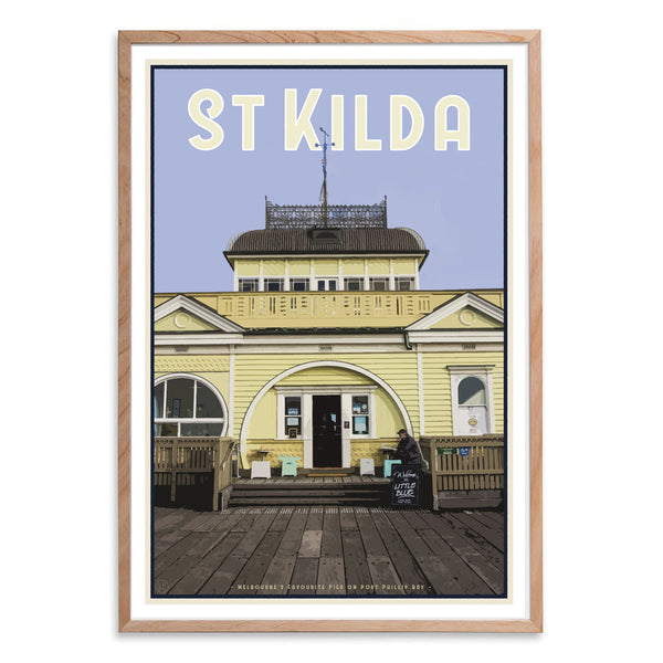Oak framed St Kilda Pier Print - Places We Luv