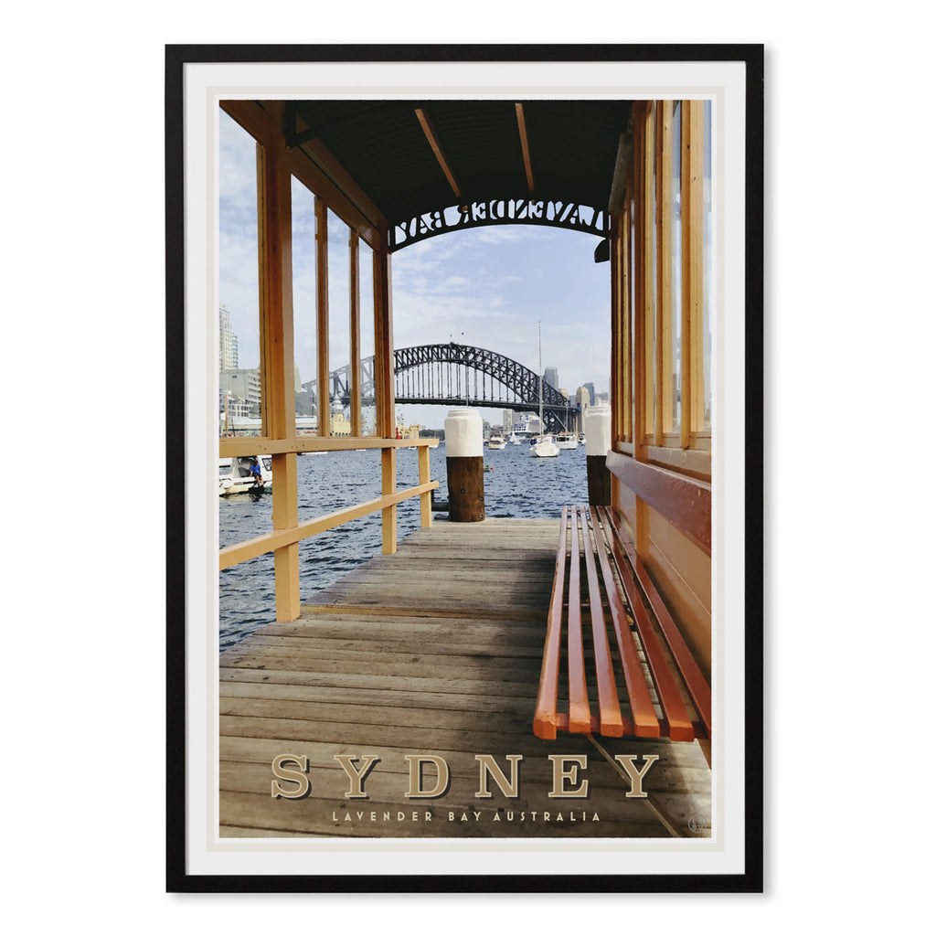 Lavender Bay Sydney vintage style travel print by places we luv