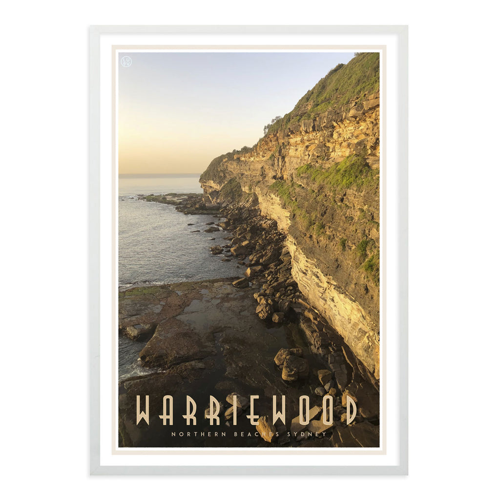 Warriewood vintage travel style poster designed by places we luv