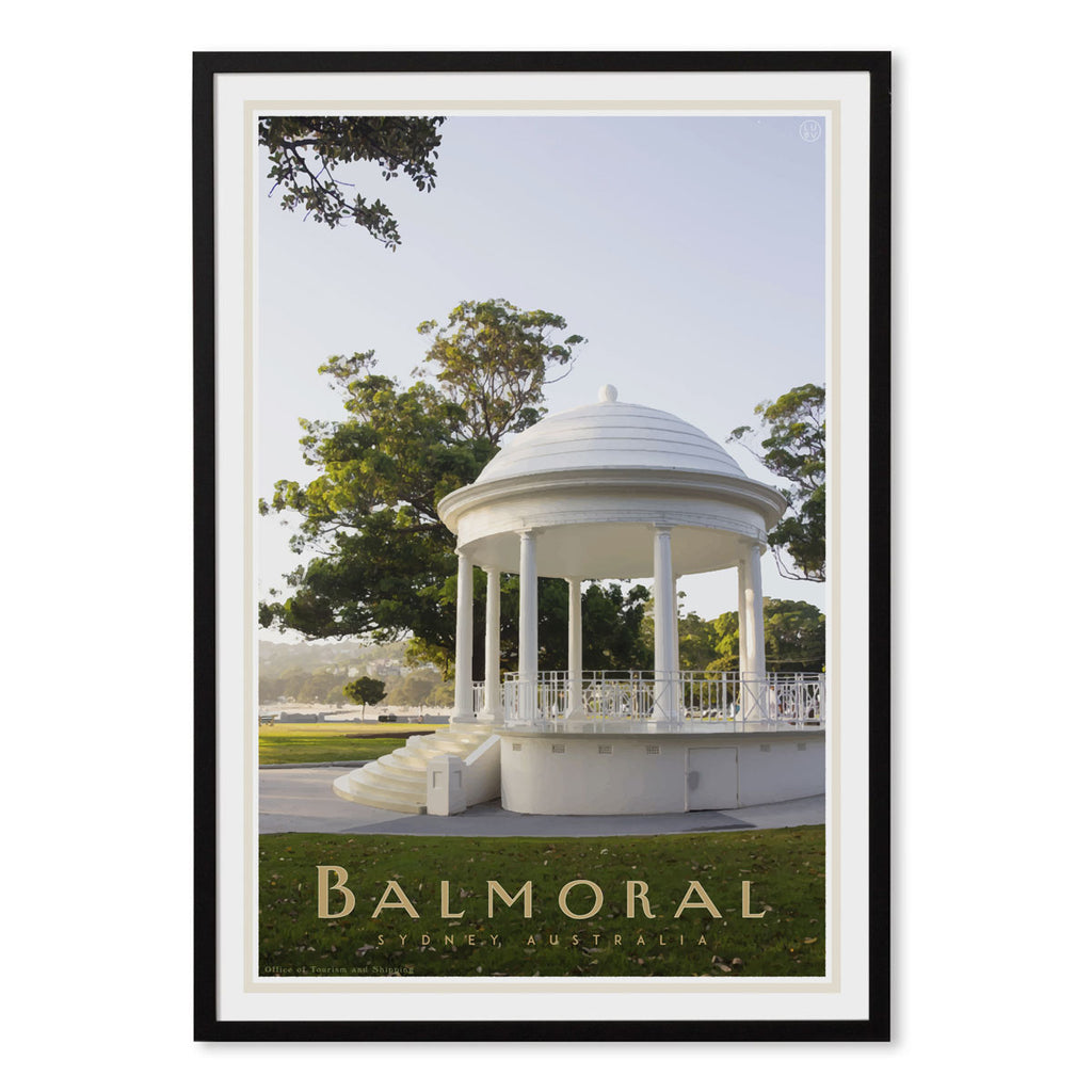 Balmoral Rotunda Framed Print - vintage travel style by placesweluv travel style