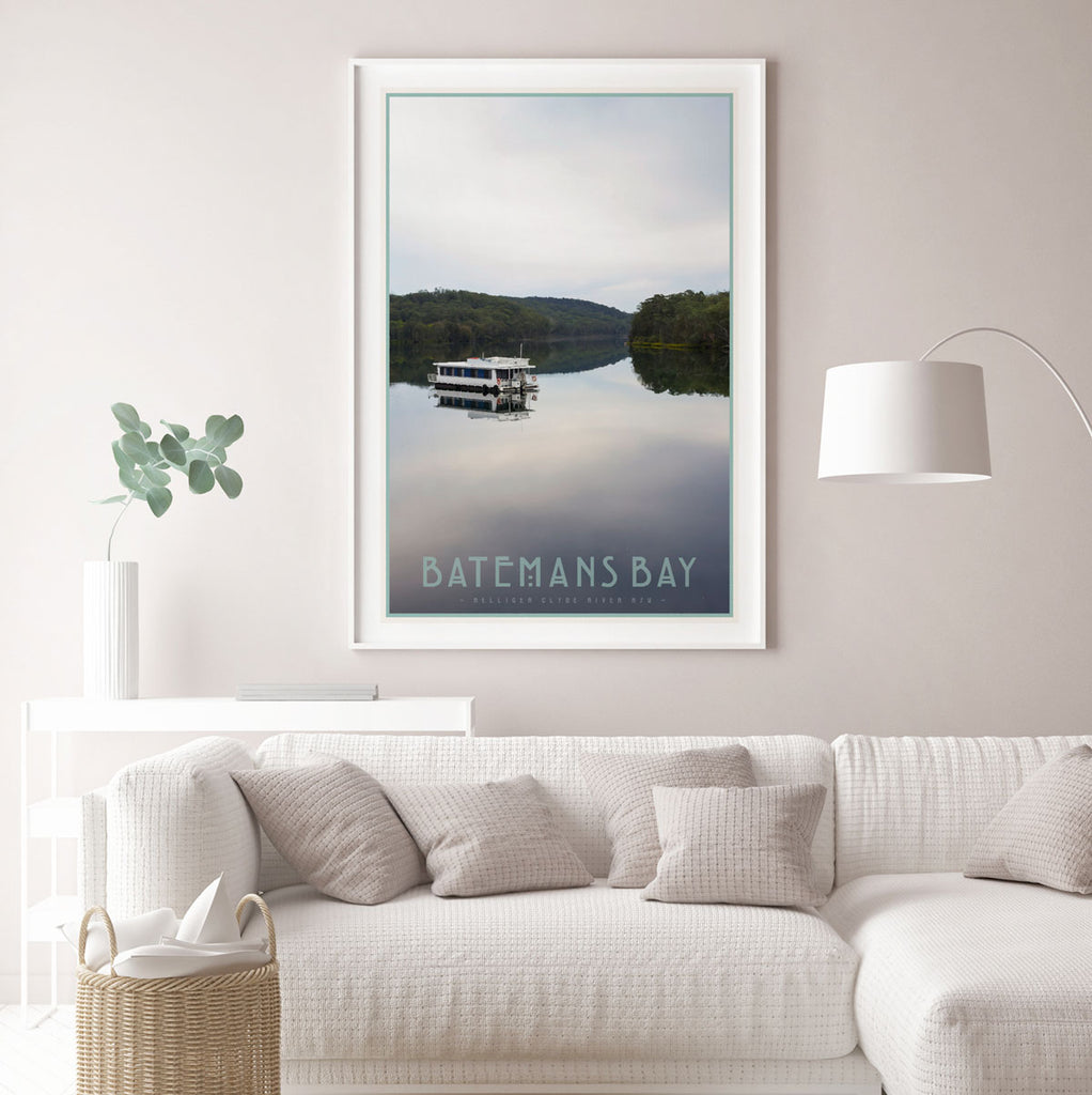 Batemans bay NSW vintage travel framed print by places we luv