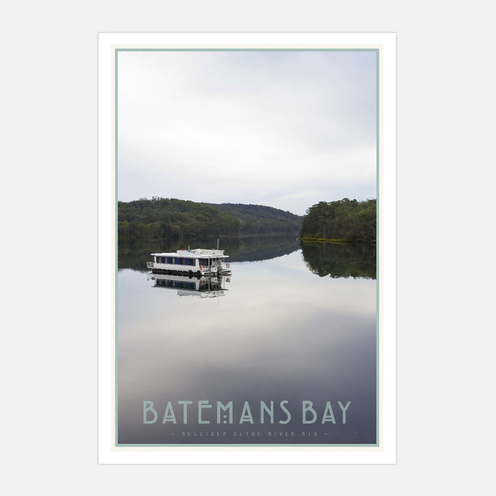 Batemans bay NSW vintage travel print by places we luv
