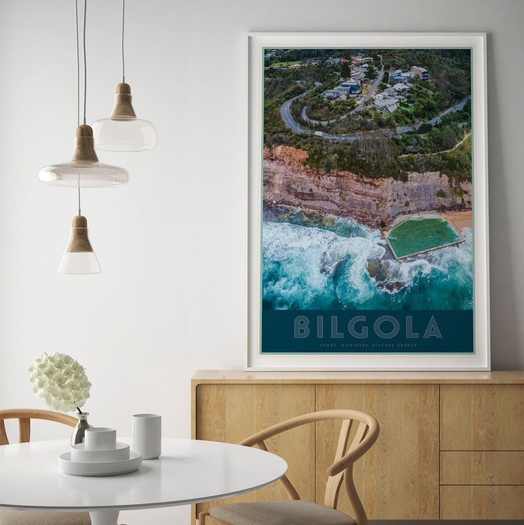 Bilgola Bends print vintage travel style by places we luv