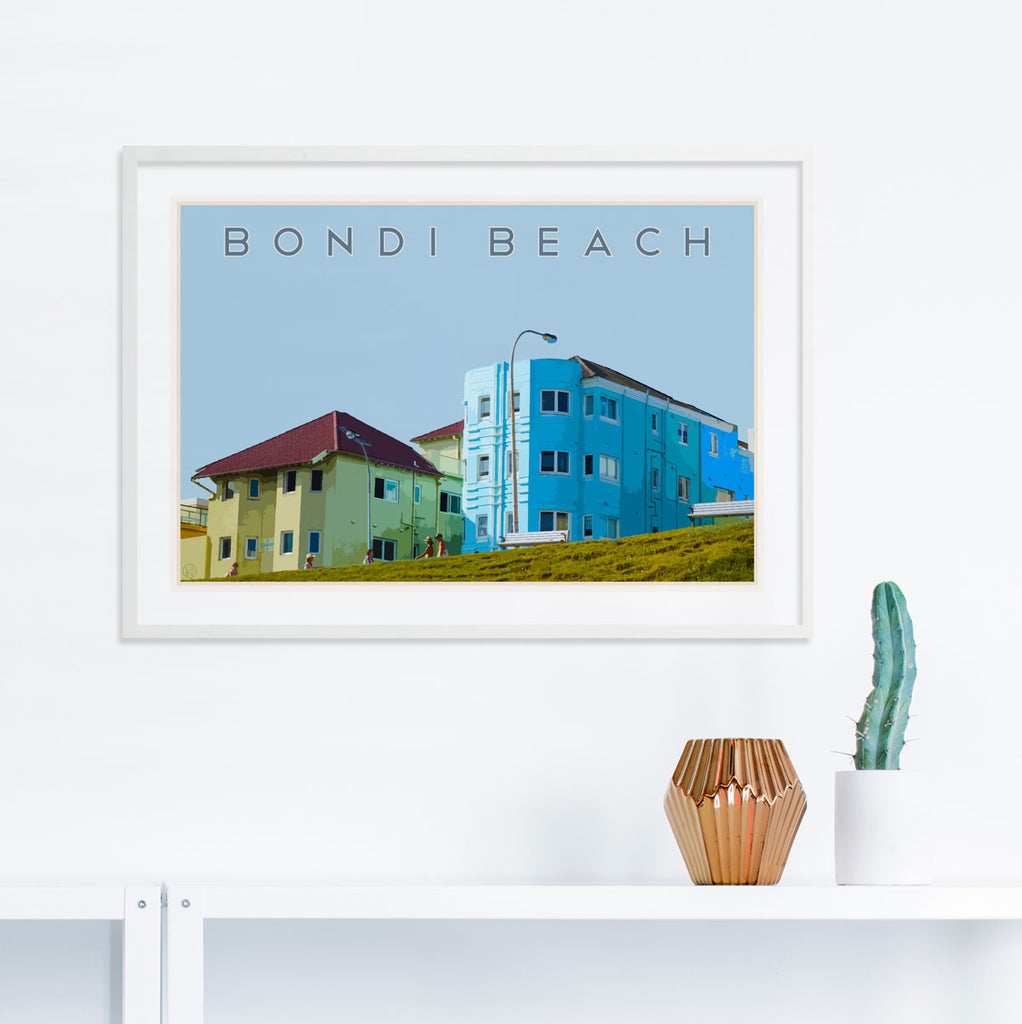Bondi Beach Print - framed in white by Places We Luv