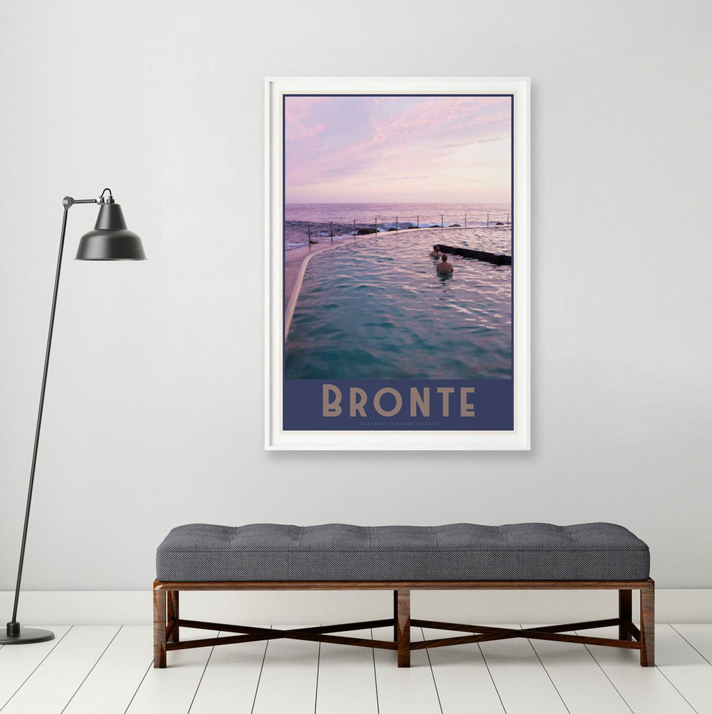 Bronte vintage travel style framed prints by places we luv