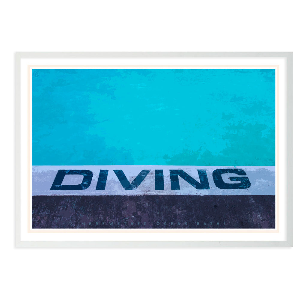 Diving Travel Print