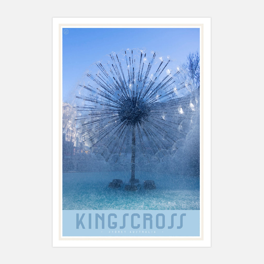 Kings Cross Vintage style travel print by places we luv