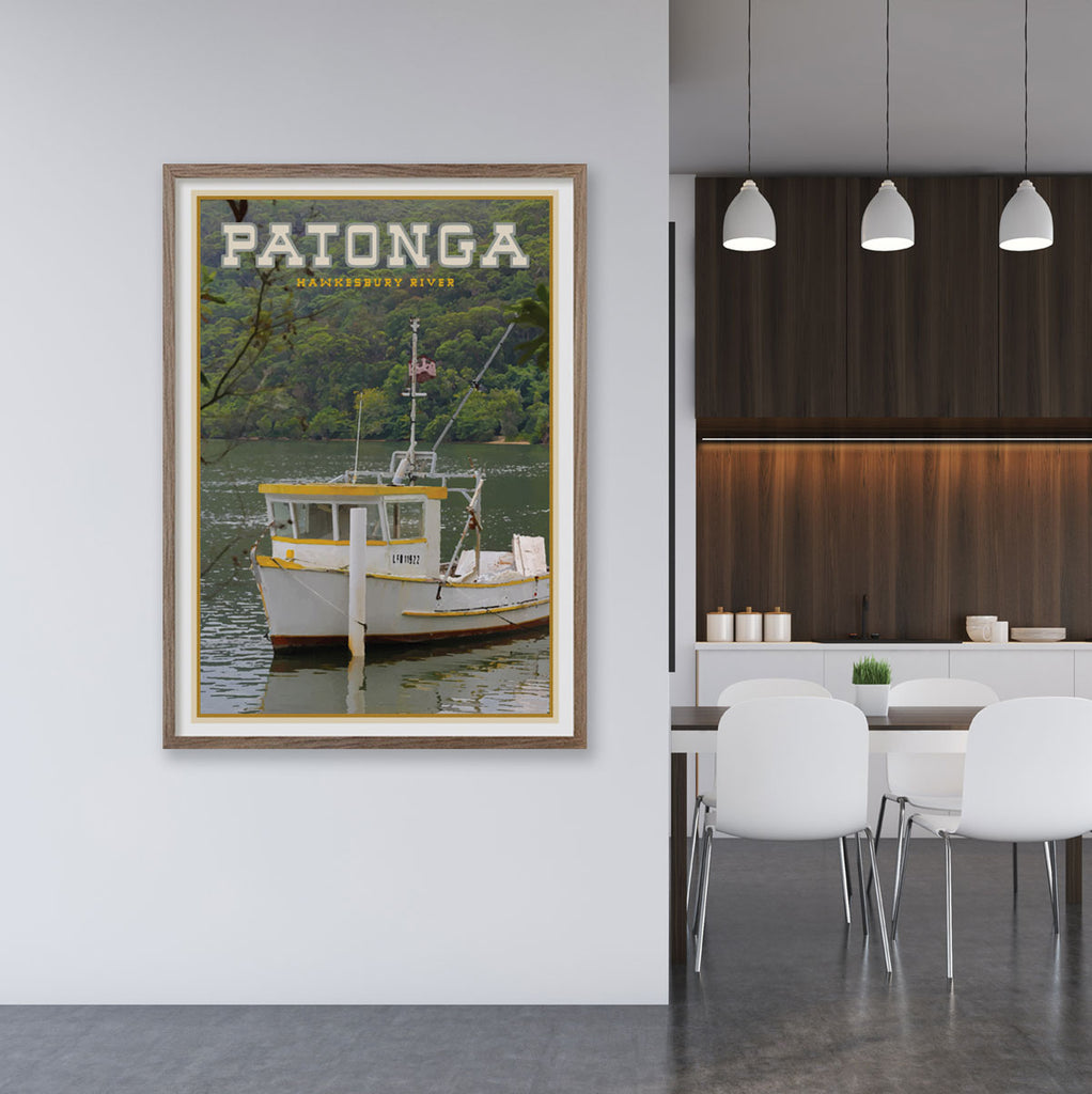 Patonga  Sydney vintage travel style print by places we luv