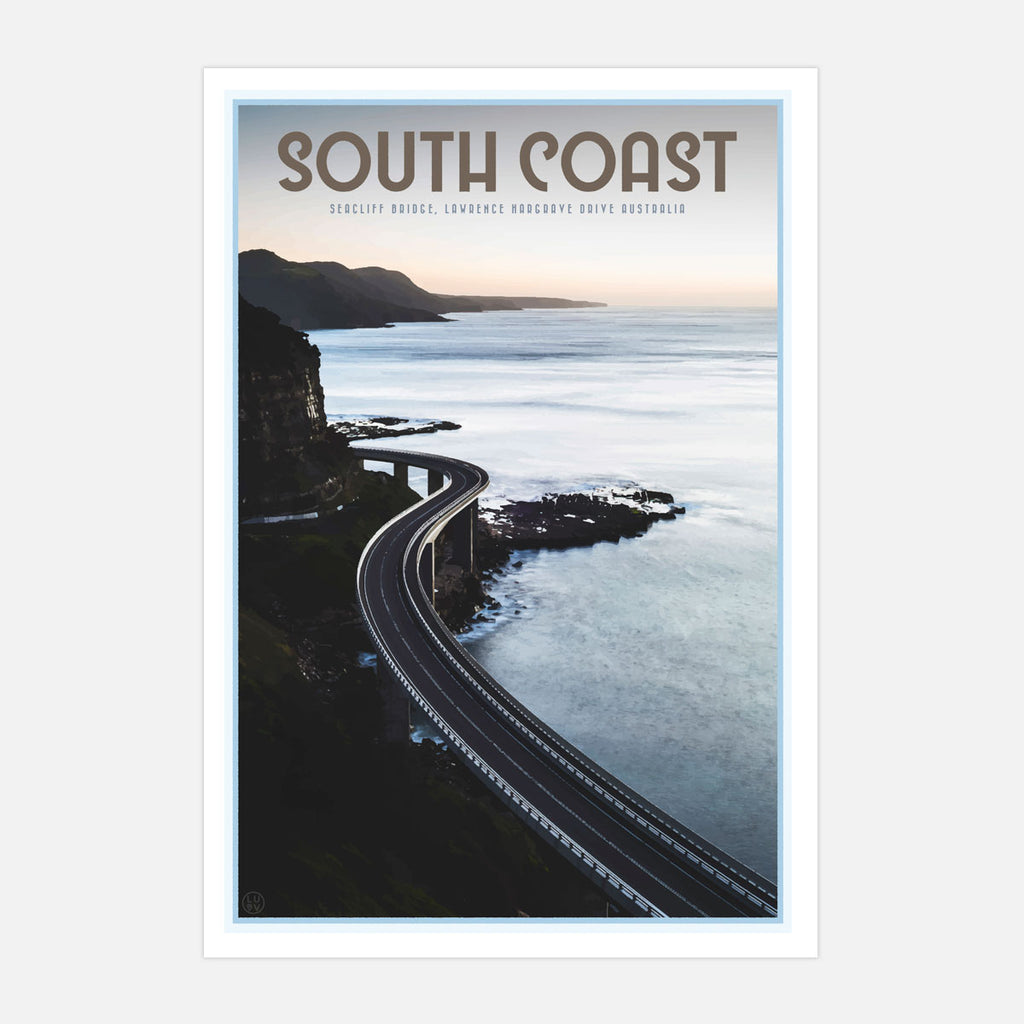 South coast seacliff bridge art print by places we luv