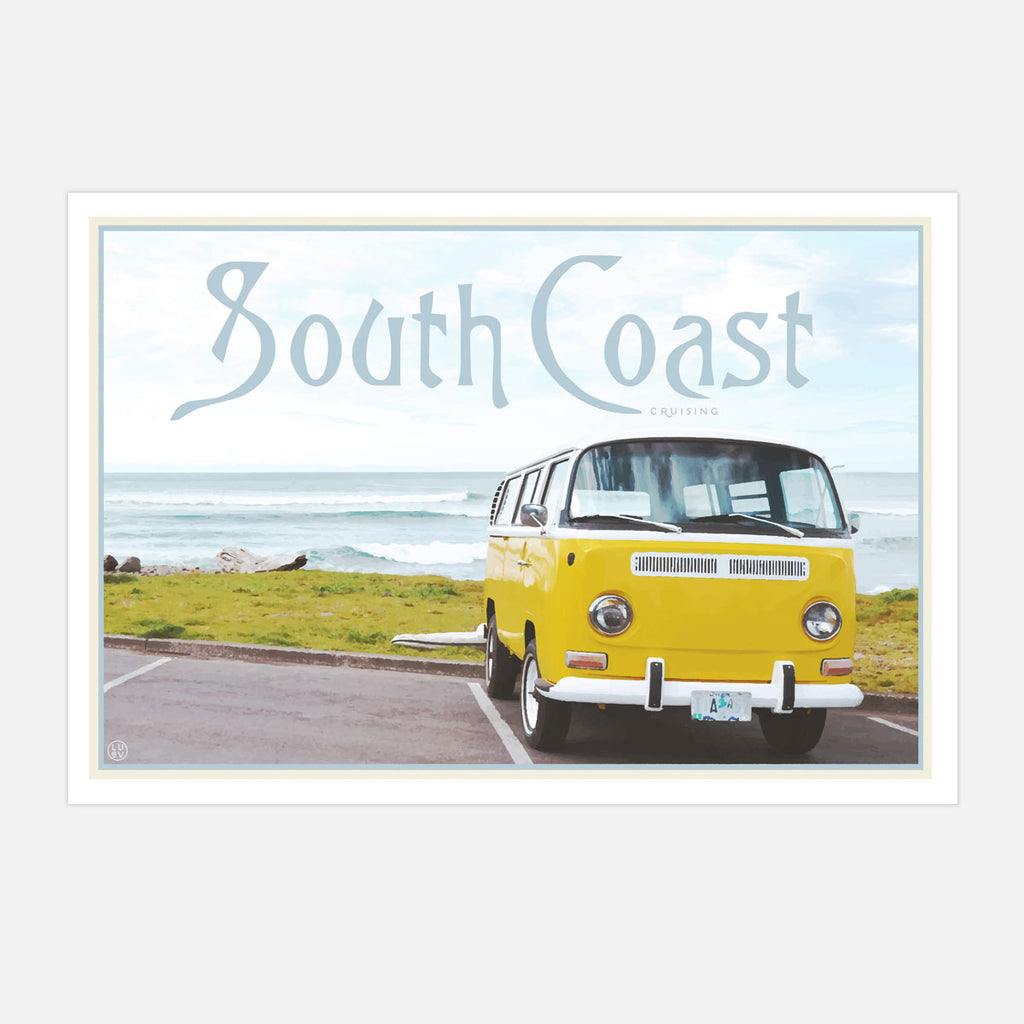 Places we luv travel style poster of South Coast NSW