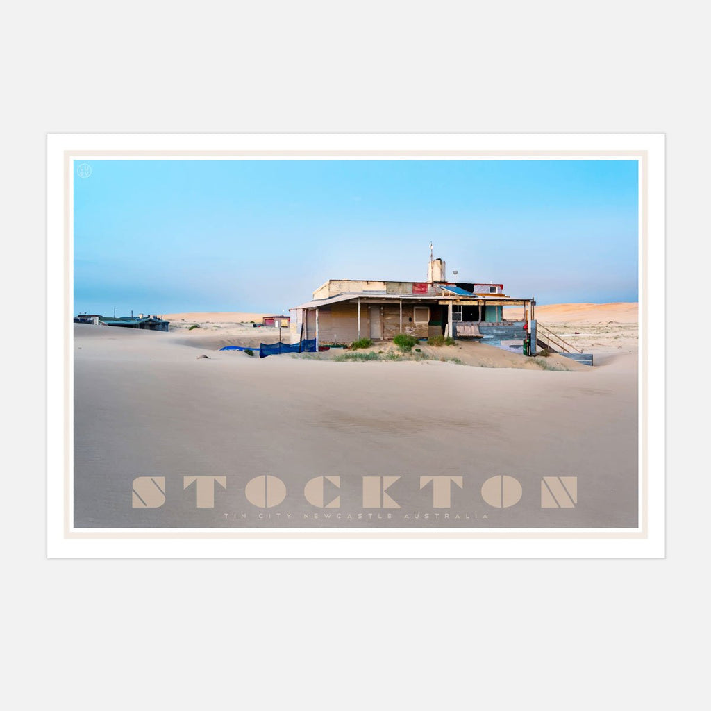 Stockton- tin city - vintage travel style print by places we luv